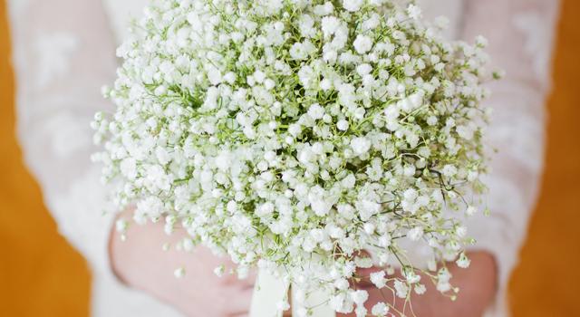 Букет невесты из садовых ландышей